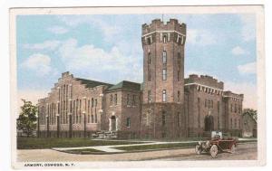 Armory Oswego New York 1927 postcard