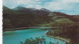 Rainbow Lake, sometimes called Emerald Lake,  Whitehorse-Carcross Road,  Yuko...