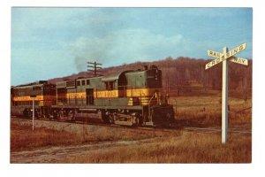 Northern Ontario Railway Train at Crossing, North Bay, Ontario,