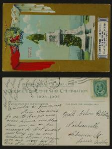 IIIe Centenaire de Québec 1608-1908 Champlain pmk1909