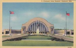 Ohio Cincinnati Union Railroad Terminal Curteich