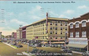 Sixteenth Street,  Lincoln Way and Business District,  Cheyenne,  Wyoming,   ...