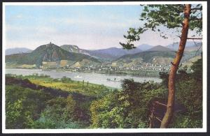 Siebengebirge (Seven Mountains) View Rhine unused c1910's