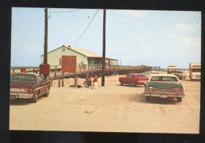 PORT ARANSAS TEXAS HORACE CALDWELL PIER 1960's CARS VINTAGE POSTCARD