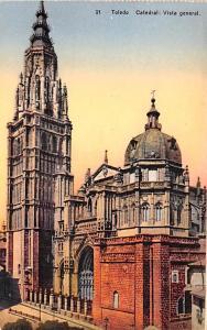 Spain Old Vintage Antique Post Card Catedral, vista general Toledo Unused