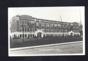 RPPC HASTINGS MICHIGAN HIGH SCHOOL BUILDING VINTAGE REAL PHOTO POSTCARD