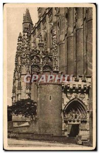 Old Postcard Albi (Tarn) Cathedrale Sainte Cecile The Porch