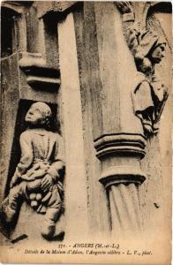 CPA Angers - Détails de la Maison d'Adam, l'Angevin célébre (167013)