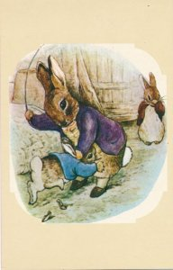 Benjamin Bunny being Whipped - Beatrix Potter - Modern Print