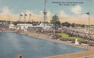 Connecticut New London Swimming Pool Ocean Beach Park 1949