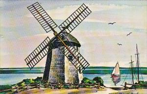 Massachusetts Cape Cod Old Bass River Windmill In South Yarmouth 1967