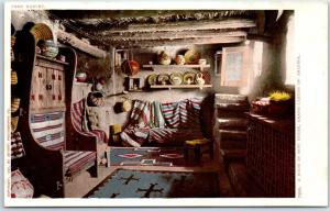 Grand Canyon National Park Postcard A Room in HOPI HOUSE Detroit Pub. C1900s