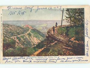Pre-1907 TRAIN TRACK CIRCLE BRIDGE Mount Lowe - Pasadena - Los Angeles CA W5787