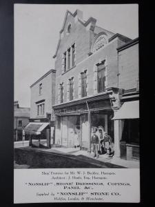 Advert: Shop Premises for MR W.J.BUCKLEY, HARROGATE, ARCHITECT - Old Postcard