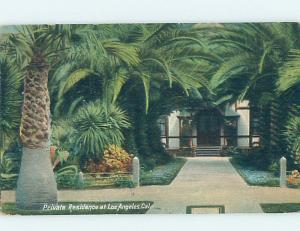 Divided-Back PRIVATE HOME Los Angeles California CA W4957