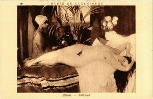 PC CPA ARABIAN TYPES AND SCENES, OTTMANN - ODALISQUE, Vintage Postcard (b17411)