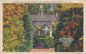New York Saratoga Springs Wishing Well In The Chauncey Olcott Garden 1938 Cur...