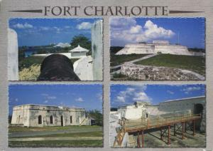 Fort Charlotte Nassau Bahamas Multiview c2000 Curteich Postcard D28