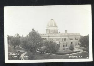 RPPC ROSWELL NEW MEXICO CHAVES COUNTY COURT HOUSE REAL PHOTO POSTCARD NM.