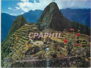 Postcard Modern citadel Machu Picchu view of