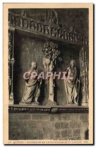 Autun - Interior of the Cathedral - Old Postcard