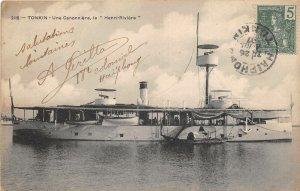us7656 une cannoniere le henri riviere tonkin vietnam  ship bateau
