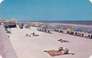 Sun Bathing at Virginia Beach,   Virginia,  PU-1957