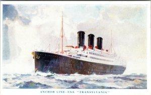 Steamship Anchor Line TSS Transylvania Bermuda Cover POSTCARD CRUISE