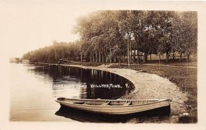 D10/ Willmar Minnesota Mn Real Photo RPPC Postcard c1920 Homewood Park Boat
