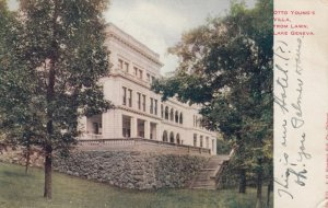 LAKE GENEVA, Wisconsin, 1900-10s; Otto Young's Villa, from the Lawn