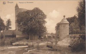 Belgium Bruges Paysage au Minnewater