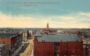 Anderson Indiana~Birdseye North From Union Bldg~The Banner Store~1917 Postcard