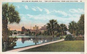 ORLANDO, Florida, 1900-10s; Skyline, The City Beautiful from Lake Eola Park