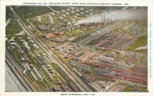 1920s Standard Oil Refining Plant Chicago Indiana harbor postcard 1739 Kropp