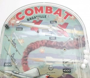 Marx Handheld Combat Pinball by Bagatelle Games with Box Works
