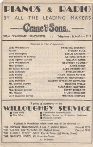Oscar Wilde Lady Windermeres Fan Antique Manchester Theatre Programme