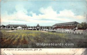 A Snapshot on York Fairgrounds York, Pennsylvania, PA, USA Horse Racing Unused