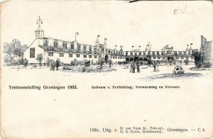CPA Tentoonstelling GRONINGEN 1903 Gebouw v. Verlichting NETHERLANDS (604102)
