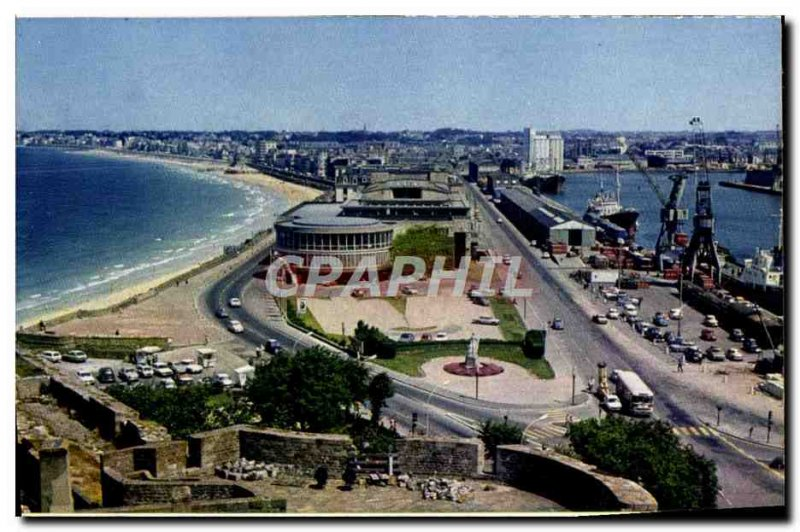 Modern Postcard Saint Malo Vue Generale on the Beach The groove and the comme...