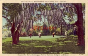 ELEVENTH GREEN, EDGEWATER GULF HOTEL GOLF COURSE, EDGEWATER PARK, MS.  1942