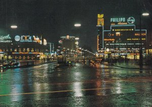 COPENHAGEN, Denmark, PU-1973; The Town-Hall Square At Night
