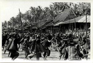 indonesia, NIAS, Native Warriors Shield Spear Balato (1930s) Real Photo (05)