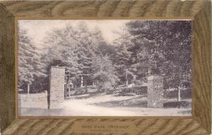 BINGHAMTON NY ROSS PARK ENTRANCE~ULLMANS ART FRAME SERIES PUBL POSTCARD 1900s