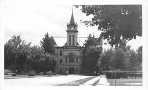 Kalispell MT~Flathead Courthouse~Military Recruit Poster~Still No Clock~RPPC '50