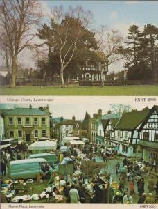 Leominster Market Place Food Clothes + Grange Court 2x 1970s Mint Postcard s