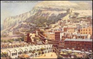 gibraltar, Casemates Barracks (ca. 1930) Tuck's Oilette