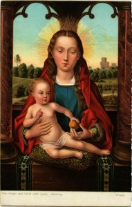 CPA STENGEL 29154 The Virgin and Child with Apple-Memling (744539)