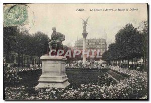 Old Postcard The Paris Square of Antwerp Statue Diderot