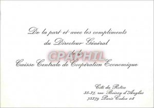 Carton invitation In the Part and with the compliments of the Director Genera...