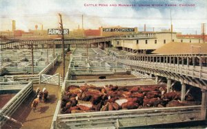 USA Cattle Pens and Runways Union Stock Yards Chicago 03.78
